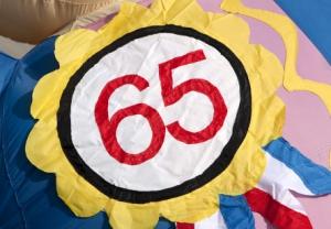 Badge 65 jaar - Partydolls