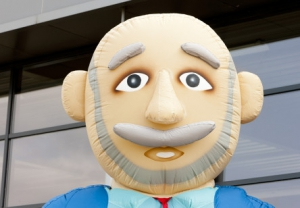 Afbeelding van gezicht Abraham met wandelstok - Partydolls