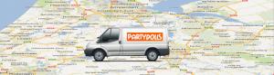 Google maps kaart met startadres in Lisse